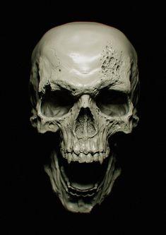 #Skull #Zbrush  그냥 해골 같아 보이지만 자세히 들춰보면 엄청난 디테일이 살아 있는것을 알수있다. zbush를 사용하면서 전체적인 윤곽은 트렌스폼 좌우 대칭 프로그램을 사용햇지만 전체적인 묘사는 대칭이아닌 것을 알수 있다. 그만큼의 노력이 멋진 작품을 만들어 내는것같다.