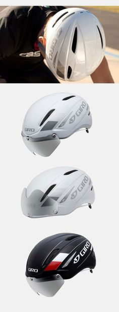 I love the built in glasses --- Giro Air Attack cycling helmet