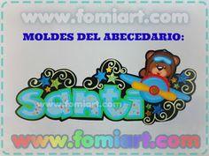 "Moldes Gratis 2017: 27. Moldes Gratis ABECEDARIO ""SANTI"" Soloing, Minnie, Diy, Google Drive, Banner, Lettering, Disney Characters, Ideas, Monogram Alphabet"