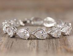 Teardrop Crystal Bracelet