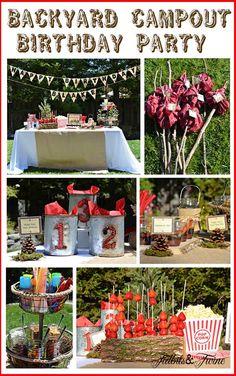 Tidbits & Twine Backyard Campout Birthday Party