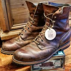 http://chicerman.com  selvedge-socks-shoes:  custom resoled red wing 4572 #custom #resoled #redwing #rough #tough #4572 #vintage #redwingheritage #redwings #redwingrepair #schuhgott #shoerepair #cobbler #bootshoes #bootsfreak #redwingshoes #myredwings #craftmanship #boots #redwingcologne #roccia #heritage #leatherwork by @schuhgott_custom_shoe_repair  #menshoes