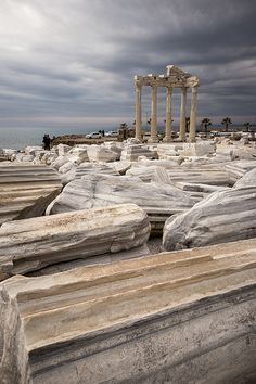 Athena Temple, Side, Antalya Province, Turkey
