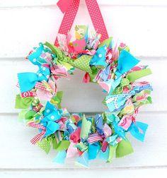 the doors, craft, color, rag wreaths, front doors, easter wreaths, spring wreaths, ribbon wreaths, summer wreath