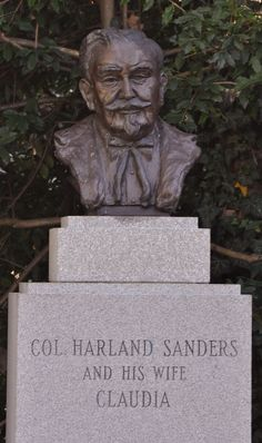 Colonel Harland Sanders, 1890-1980 (cause of death: Pneumonia/Leukemia) * Businessman