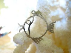 Vintage Sterling Silver FISH Charm Pendant by charmingellie, $9.00