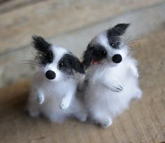 Puppy dog custom dog sculpture white black dog knitted toys made to order…