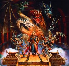 I saw this Dragonlance illustration years ago and always thought it was amazing. Glad I found it again. (Artist: Clyde Caldwell.)