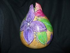 Hand Painted gourd................A Collection by WendyFloresArt on etsy