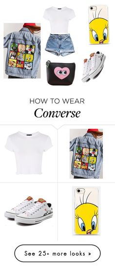 """""""Looney tunes"""" by miloni-jhaveri on Polyvore featuring Forever 21, Casetify, Topshop and Levi's"""