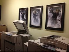 Even the copy room at the Jerry Bruckheimer Films office is all decked out