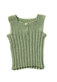 Nice basic shape to this baby vest.  Like the opening at the collar to prevent squishing little ears.