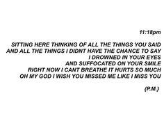 i wish you missed me like i missed you