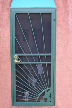 Finally a picture of a security screen door painted a lovely color!