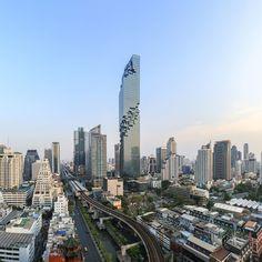#Hochhaus von Ole #Scheeren in #Bangkok fertiggestellt #Interior #LiftDecoration #OKATECH #Honeycomb #OKALUX
