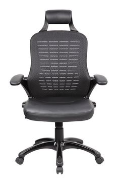 Roll over image to zoom in Anji Ergonomic High Back Mesh Office Desk Chair with PP Armrest and Lumbar Support ,Tilt Tension, Black Wheels
