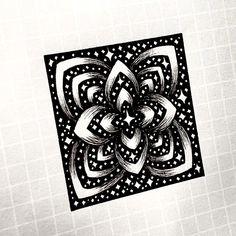 Doodle Art Designs, Doodle Patterns, Zentangle Patterns, Zentangles, Mandala Art Lesson, Mandala Drawing, Dibujos Zentangle Art, Graph Paper Art, Wow Art