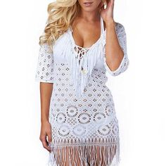 Fringe Crochet Tunic – 4drobe Can someone please buy me this :) lol thanks!
