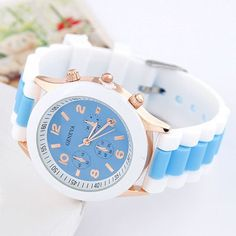 Skate Sky Blue Candy Color Simple Design Silicone Fashion Watches http://earrings.asumall.com/