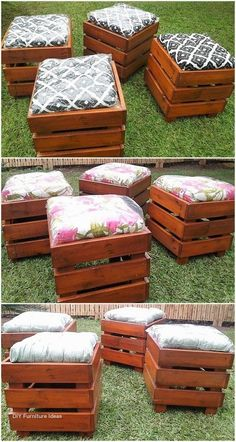 Are you planning to renovate your home, for an event or any gathering? And have a desire to amaze your guest and visitors with the breath-taking beauty of your place, then be creative and craft these recycled wood pallet ideas for your home's decorat Wooden Pallet Projects, Diy Pallet Furniture, Diy Furniture Projects, Wooden Pallets, Diy Projects, Wood Furniture, Furniture Design, Modern Furniture, Furniture Repair