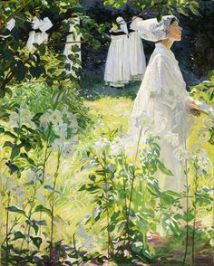 A Convent Garden, Brittany by William John Leech | National Gallery of Ireland