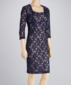 Add subtle sophistication to that special occasion with this flirty, long-sleeve dress. Floral lace charms from shoulder to hem, imparting the perfect touch of feminine elegance. Measurements (size 8): 39'' long from high point of shoulder to hem65% cotton / 35% polyesterDry cleanMade ...