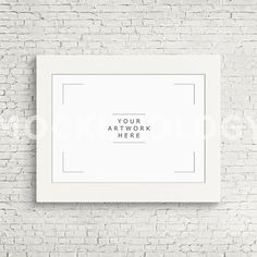 A3 A1 Horizontal DIGITAL White Frame Mockup Digital by Mockupology