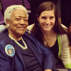 """Operations Specialist Taylor Brown had the great opportunity to meet Mrs. Naomi King at the Global Health and Humanitarian Summit opening ceremonies last night. A self-described """"81 year old hugger"""" and the sister-in-law of Dr. Martin Luther King Jr., she is an inspiration to all those who serve others! — with Taylør Brøwn at Emory University School of Medicine."""