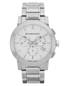 77059799d6 Burberry   Metallic Watch, Men's Swiss Chronograph Stainless Steel Bracelet  42mm Bu9350 for Men  . Lyst