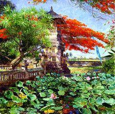 Bali  Temple Garden Bali  28X28