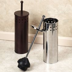 Toilet Plunger Holder with Lid/$21.99 was starting at $35 from TouchOfClass.com. Again, preferred in brown.