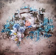 Mary's Crafty Moments: ''Joy - Hope - Wish'' - A Layout for 2Crafty Chipboard with a Video Tutorial