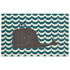 Mohawk Home Aurora Oh Whale Teal Area Rug & Reviews | Wayfair
