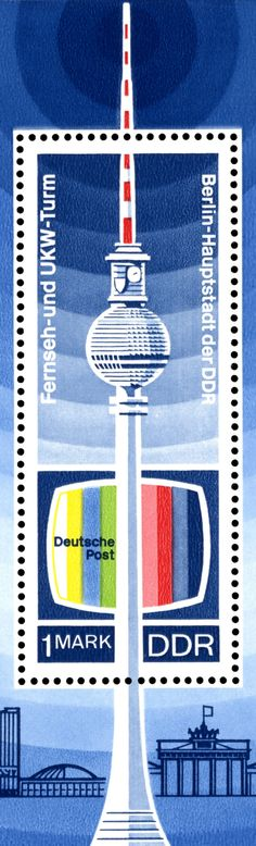 Berlin Television Tower - original GDR Stamp More information on Berlin: visitBerlin.com