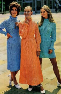 vintage ladies dress crochet summer wear for ladies Vintage Knitting, Vintage Crochet, Summer Wear For Ladies, Retro Fashion, Vintage Fashion, Circle Fashion, Fashion Illustration Vintage, Vintage Wardrobe, Blouse And Skirt