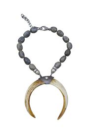 Double Tusk And Labradorite Nugget Necklace from S. Carter Designs