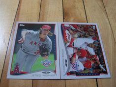 Howie Kendrick Jered Weaver 2014 Topps Opening Day Anaheim Angels 2 Card Lot | eBay