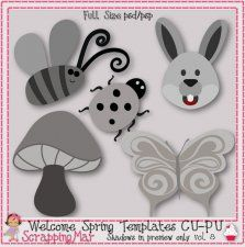 Welcome Spring Layered Templates vol 8 by ScrapingMar cudigitals.com clipart template cu commercial scrap scrapbook digital graphics #cu #digitalscrapbooking #scrapbooking #photoshop #digiscrap