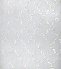 Home Decor Sheer Fabric-Eaton Square Dominos   Champagne