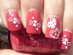 Nail Art Designs Valentines Drawing - nail art designs valentines day simply simple with nails valentine s Heart Nail Art, Heart Nails, Glitter Gel Nails, Gel Nail Art, Nail Nail, French Nails, Romantic Nails, Finger, Valentine's Day Nail Designs