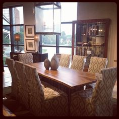 Dinning table at Furnitureland South's 1.3 million sq. ft. of showroom space!