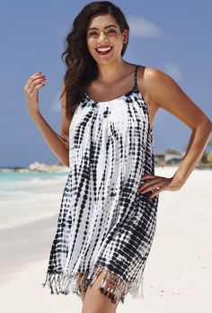 swimsuitsforall Tie-Dye Boho Dress
