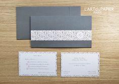 """Faire-part de Mariage - Wedding Invitation """"Billet Liberty"""" Art du Papier 2014"""