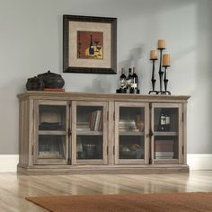 New Wooden Tv Cabinet with Glass Doors