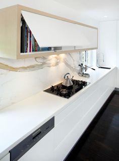 Willoughby - modern - Kitchen - Sydney - Art of Kitchens Pty Ltd Single slab backsplash