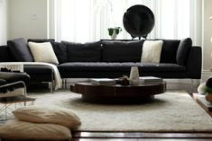 Living in Black and White, SF Style : Remodelista Charles Sofa, B & B