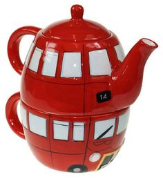 Double Decker Bus Teapot I've been on a double~Decker in London... ~Kelli~