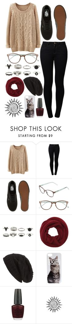 """""""with heaven above you there's hell over me"""" by helloimweird13 on Polyvore featuring Noisy May, Vans, Kate Spade, Wyatt, David & Young and OPI"""