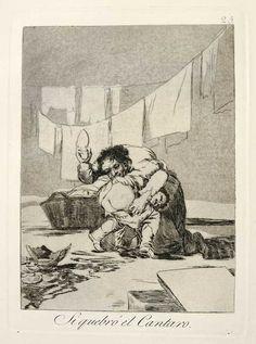 """Francisco de Goya. Caprichos, """"Se quebró el cántaro"""". http://museo.ibercaja.es/img/grabados/Si-quebro-el-cantaro.jpg"""