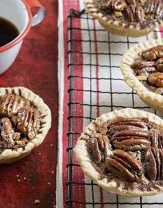 How delicious do these Chocolate-Pecan Tartlets look? #recipes #dessert